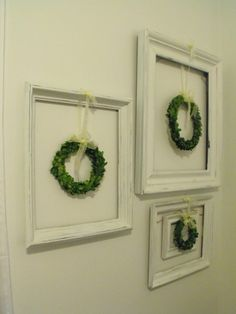 Susie Harris: Boxwood Wreaths-great idea for the willow wreath from Dollar Tree.