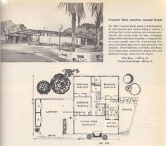 1950s house plan