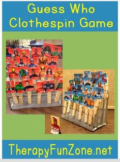 OT Idea of the Week: Guess Who Clothespin Game - pinned by @PediaStaff – Please Visit  ht.ly/63sNt for all our pediatric therapy pins