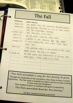 LDS Scripture Literacy: Plan of Salvation Study Guide scripture quote inserts post-its printables