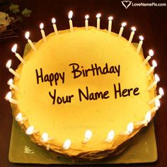 Create Candles Birthday Cake Generator For Boys With Name Photo On Best Online Editing Options And Send Happy Wishes