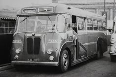 Barton - Vintage monochrome images. A strange looking vehicle from the front - 633, a Strachan bodied Barton BTS1 (Mk.1) at Huntingdon Street bus station