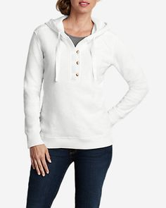 Women s Brushed Fleece Hooded Pullover Womens Clearance bbc04fa54