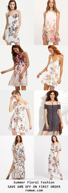 Summer Floral Fashion 2017 - romwe.com