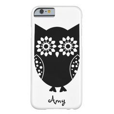 Cute Little Black Owl iPhone 6 case