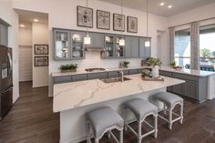 New Homes in Fronterra at Westpointe: lots - Home Builder in San Antonio TX Kitchen Interior, Home Interior Design, San Antonio, Vista House, Highland Homes, Kitchen Family Rooms, Aesthetic Room Decor, Updated Kitchen, Model Homes