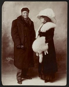 Jack Johnson and his wife Etta, 1910