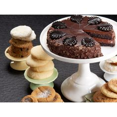 Classic Cake and Two Dozen Assorted Cookies This combo features your choice of cake (7-inch) and two dozen of our delectable cookies including the classic Chocolate Chip, Oatmeal Raisin, Lemon Sugar, Ginger Molasses, Snicker doodle and Almond Butter.