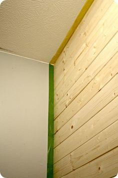 Pine Accent Wall Shiplap Headboard Ship Lap Walls