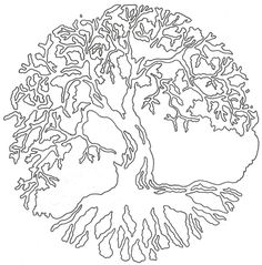 Tree of Life Linework by *Lucky-Cat-Tattoo on deviantART