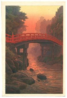 Shinkyōbashi en estampes japonaises Ukiyo-e - Expérience-Japon.