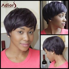Adiors Straight Short Mixed Color Heat Resistant Fiber Wig Wig #>=#>=#>=#>=#> Click on the pin to check out discount price, color, size, shipping, etc. Save and like it!