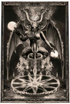 Penetrate the Qabalistic Tree of Death, and initiate yourself into the darkest mysteries of the nightside. Demon Art, Baphomet, Arte Horror, Horror Art, Traditional Witchcraft, Totenkopf Tattoos, Satanic Art, Evil Art, Dark Pictures