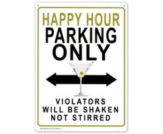 Violators will be shaken not stirred.
