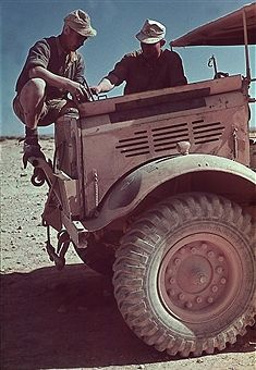two German soldiers on their vehicle - 1941 - Photographer: Wolff & Tritschler - Vintage property of ullstein bild - pin by Paolo Marzioli