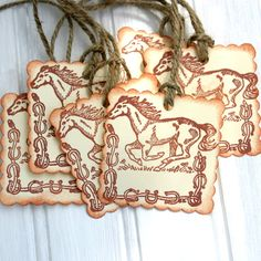 Horse Cowboy Party Favor Gift Tags
