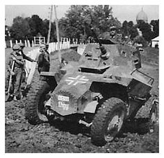 Looks like a Hungarian armored car called Csaba (Chaa-baa) is about to scramble out of a ditch back onto the road with the help of local men. Armored Vehicles, Armored Car, Photo Dump, Armored Fighting Vehicle, Ww2 Tanks, Military Photos, German Army, Panzer, War Machine