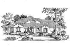 Ranch Exterior - Front Elevation Plan #999-16 - Houseplans.com