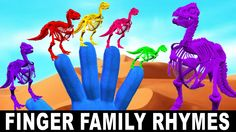 Crazy Dinosaurs Finger Family Rhymes - Animated Cartoons For Children Nu...