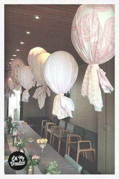 Globos de tela | fabric ballons | hot air ballons