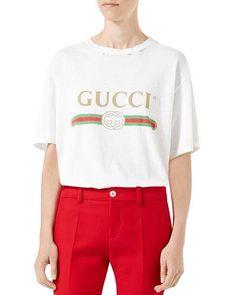 b423140460 Gucci Gucci-Print Cotton Tee Gucci Gucci, Gucci Brand, Gucci Tee, Printed