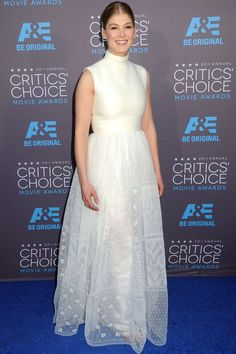 Rosamund Pike in a Valentino Couture gown.