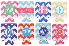 Chevron Koozies from haymarket designs