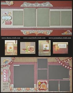 layouts and cards using CTMH Huntington paper