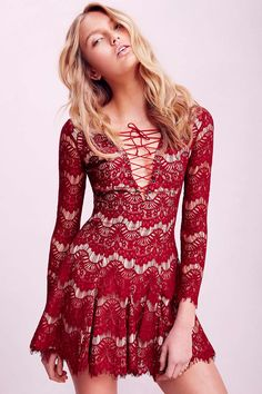 Shop Red Long Sleeve Lace Dress online. Sheinside offers Red Long Sleeve Lace Dress & more to fit your fashionable needs. Free Shipping Worldwide!