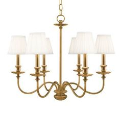 View the Hudson Valley Lighting 4036 Six Light Chandelier from the Menlo Park Collection at Build.com.