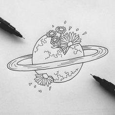 saturn drawing