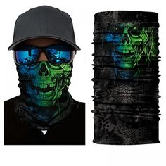Protect yourself from the elements with the Hippy Skull Face Shield from Bushpro Outdoors. Bandana, Joker Clown, Skull Face Mask, Face Masks, Motorcycle Face Mask, Skeleton Face, Tube Scarf, Balaclava, Skull Print