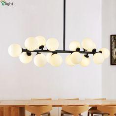 Cheap led chandelier, Buy Quality glass art lamps directly from China brass chandelier lighting Suppliers: Straight 16 Lights Glass Globes Led G4 Chandelier Lustre Pipe Dropped Chandelier Lighting Luminaria Dining Room Lamparas