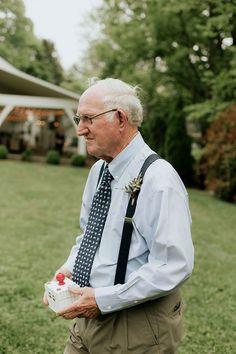 Grandparents Guest Star As Flower Girl & Ring Bearer ~ grandpa as ring bearer