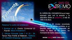 www.sangilextremo.com.co  #Parapente en el Cañón del Chicamocha tiene un costo de $180.000 COP. Salida desde San Gil Santander. (Incluye Transporte)