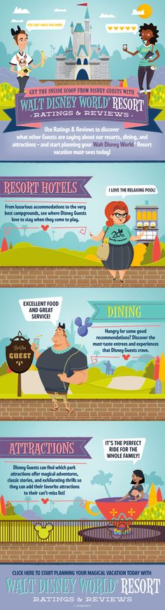Get the inside scoop from Disney Guests with Walt Disney World Resort Ratings & Reviews! #vacation #tips #tricks