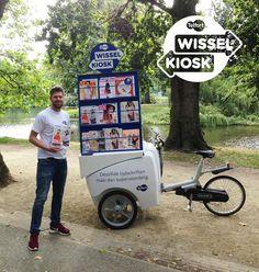 Vandaag staat de #Wisselkiosk in het Vondelpark in Amsterdam. De uitgelezen kans om jouw tijdschrift om te ruilen voor een andere. Kom je langs? #Telfort #Facebook