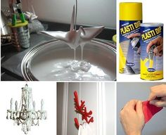 This looks like an interesting product.  DIY Projects With Plasti Dip Synthetic Rubber Coating