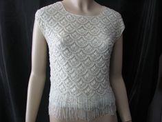 1950 Silk and Bead Top By, Recalia Imports Hong Kong