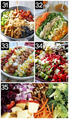 101 Summer Slimdown Hacks- LOVE these healthy salads!!