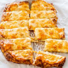 Cheesy Cauliflower Breadsticks - gluten free, low carb, cheesy cauliflower breadsticks! This is a winner and a keeper!