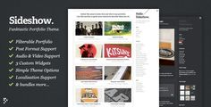 #wordpress #theme nice and cool sideshow wordpress theme!