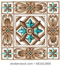 Tile Stickers Kitchen, Diy Embroidery Patterns, Decorative Wall Tiles, Ceramic Painting, Ceramic Tile Art, Barn Quilts, Arabesque, Mandala Art, Vinyl Tiles
