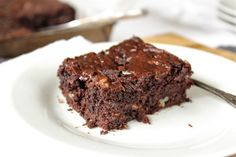 Gluten free and ridiculously moist. Pecan Maple Zucchini Brownies are a surprisingly healthy.
