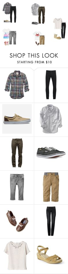 """""""The Johnston/Hayes family and Paige"""" by the-hope-family ❤ liked on Polyvore featuring American Eagle Outfitters, Scotch & Soda, Vans, Old Navy, Naked & Famous, St Jude's, Gymboree, Carter's, Levi's and Lands' End"""