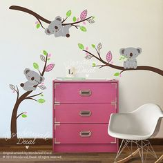 Animal etiqueta etiqueta de la pared  árbol por WonderwallDecal