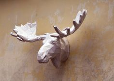 Make Your Own Moose Sculpture.  Papercraft Moose  by PlainPapyrus