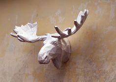 Make Your Own Moose Sculpture.  Papercraft Moose  by PlainPapyrus