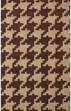 Serendipity Collection Houndstooth Brown Rug