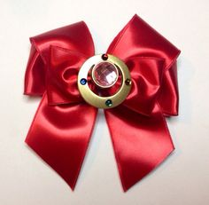 Items similar to Sailor Moon- Red satin sailor moon charm bow on Etsy Sailor Moon Party, Sailor Moon Crafts, Sailor Moon Wedding, Diy Ribbon, Ribbon Bows, Diy Bow, Sailor Moom, Sailor Moon Usagi, Sailor Moon Cosplay